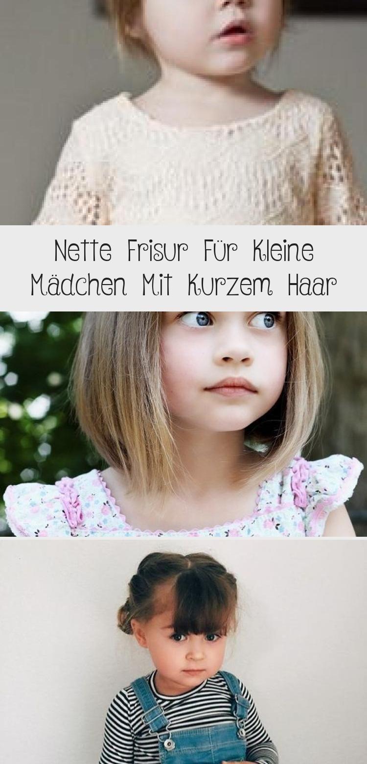 nette frisur für kleine mädchen mit kurzem haar #frisur #