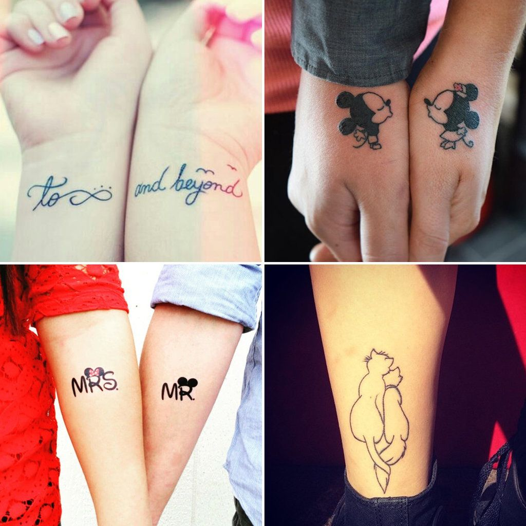 11 Awesome Couple Tattoos For Endless Love ,. Tatouages DisneyLe