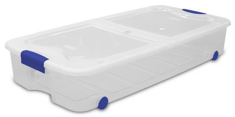 Sterilite 62 L Ultra™ Wheeled Underbed Storage Box (Varsity Blue) for sale at  sc 1 st  Pinterest & Sterilite 62 L Ultra™ Wheeled Underbed Storage Box (Varsity Blue ...