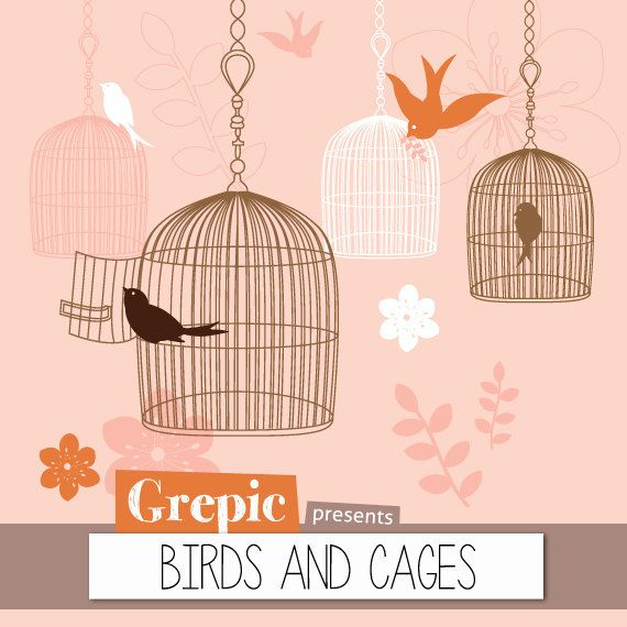 Photoshop brush birdcages BIRDS AND CAGES 14 high por Grepic, €3.15