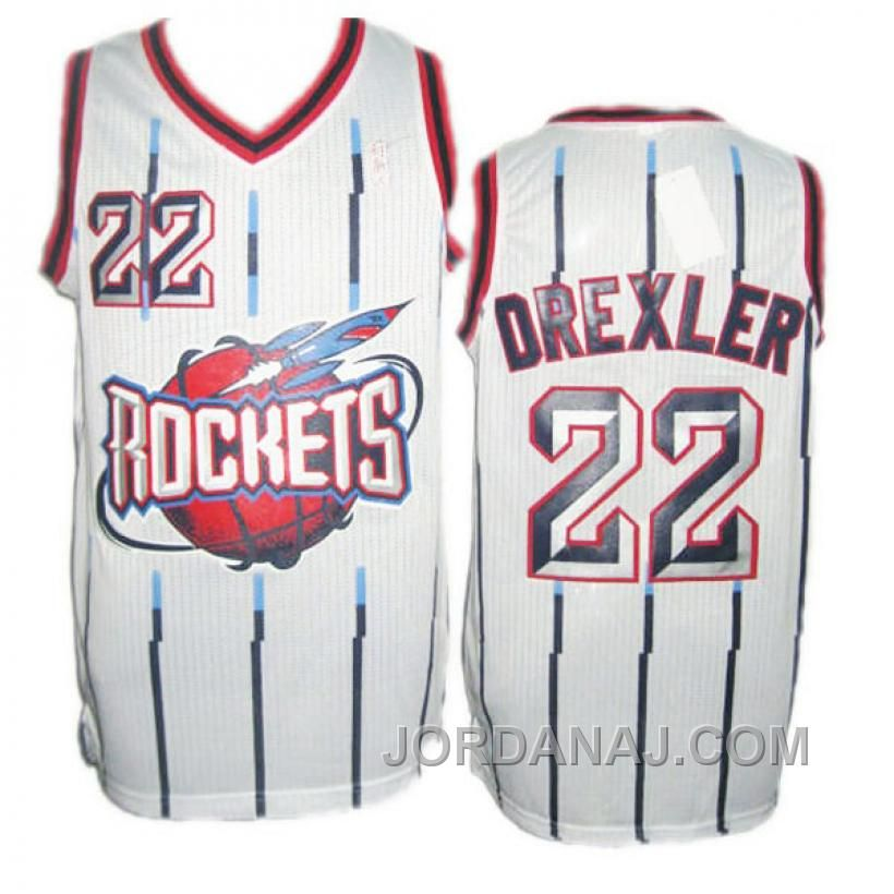 bf0e666eeb7 ... coupon for find discount clyde drexler houston rockets hardwood  classics swingman white stripe jersey online or