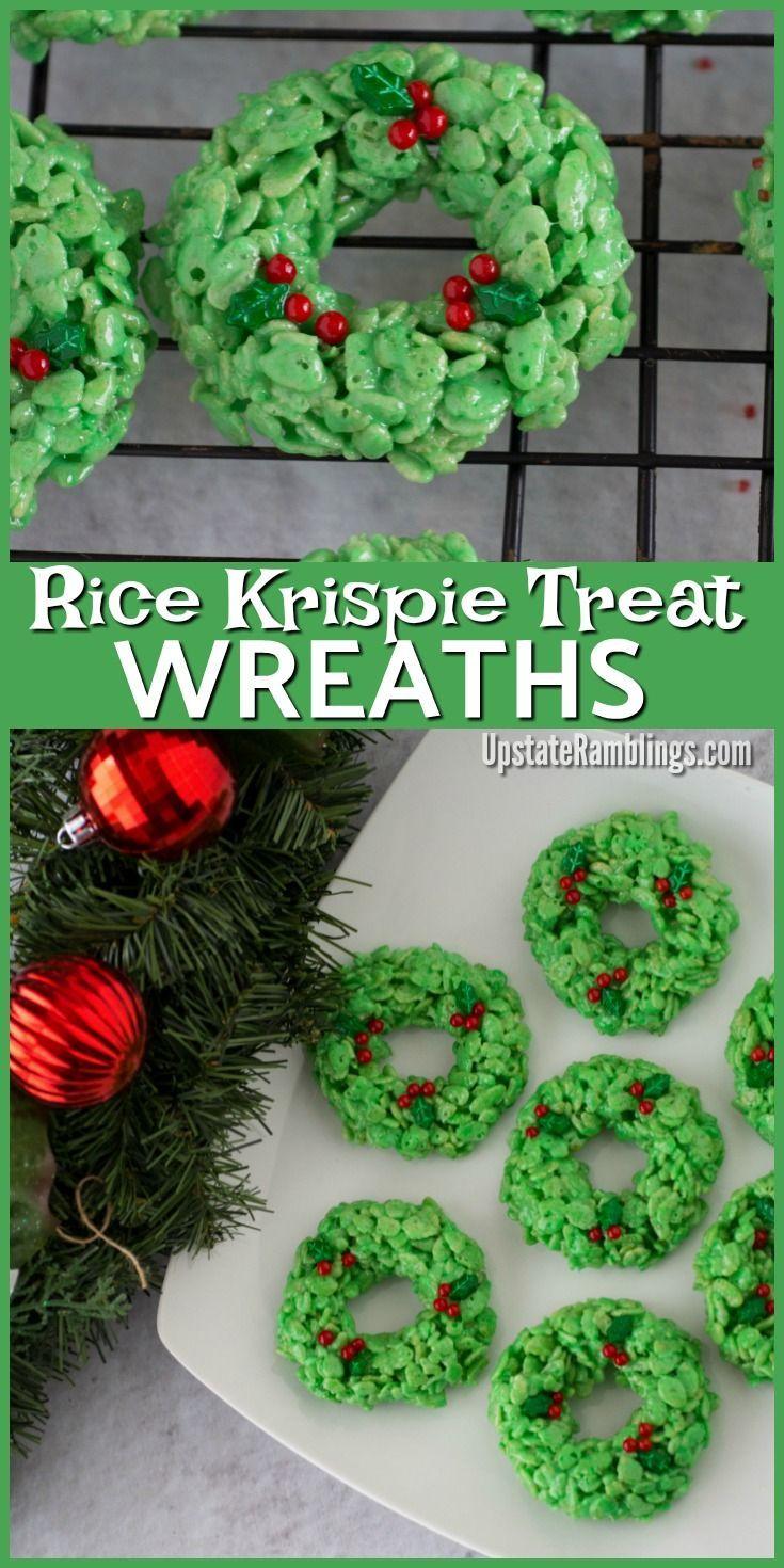 Holiday Wreath Rice Krispies® Treats #ricekrispiestreats