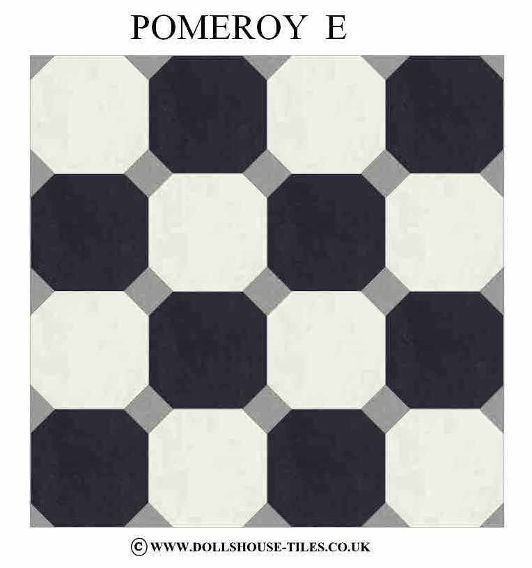 D DOLLHOUSE  FLOORING /& TILES POMEROY FLOOR TILES DOLLHOUSE MINIATURES