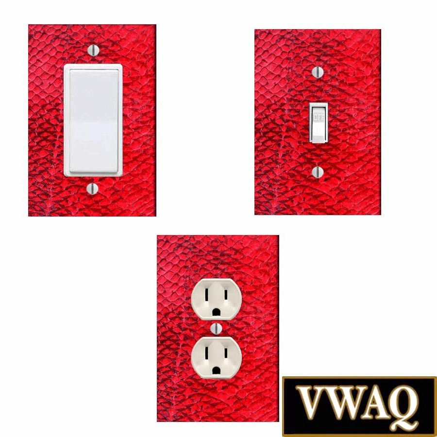 Light And Plug Covers Pack Of 3 Light Switch And Wall Plug Covers Ready To Hang Red