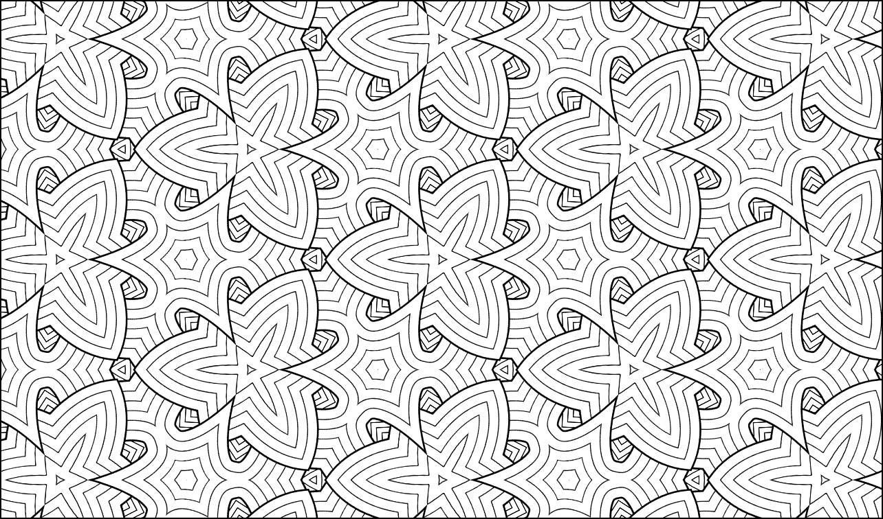 Kaleidoscope no geometric coloring page adult coloring pages