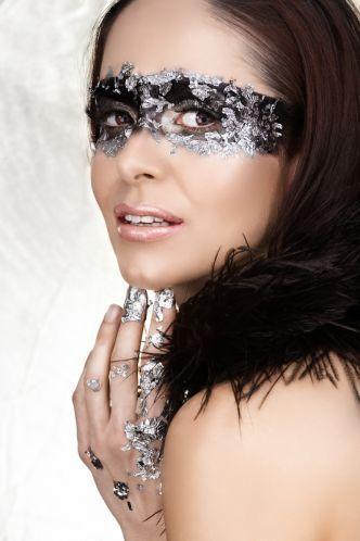 Maske Make Up Silber Schminktipps Karneval Ideen Schminken
