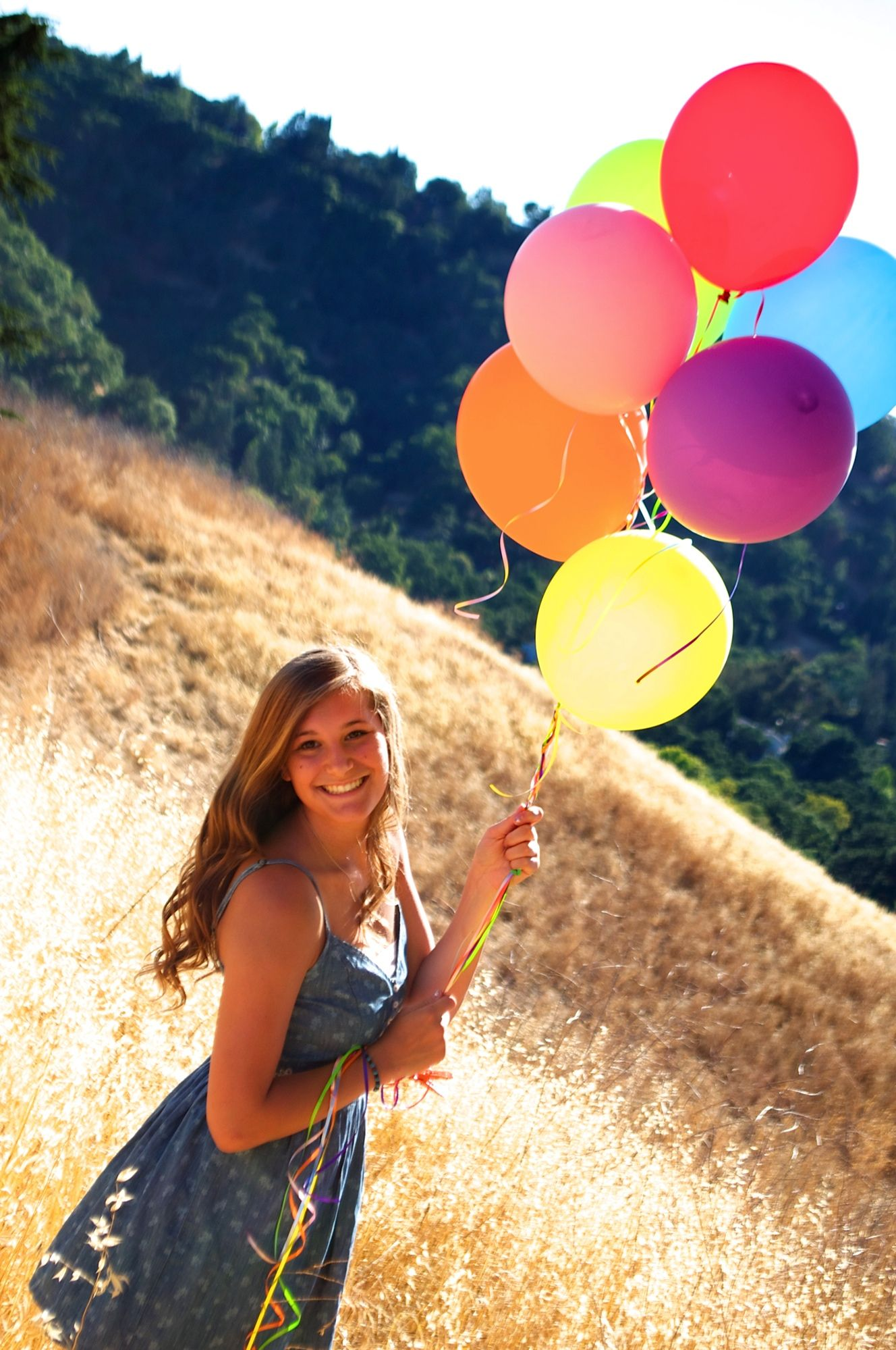 Photoshoot with balloons