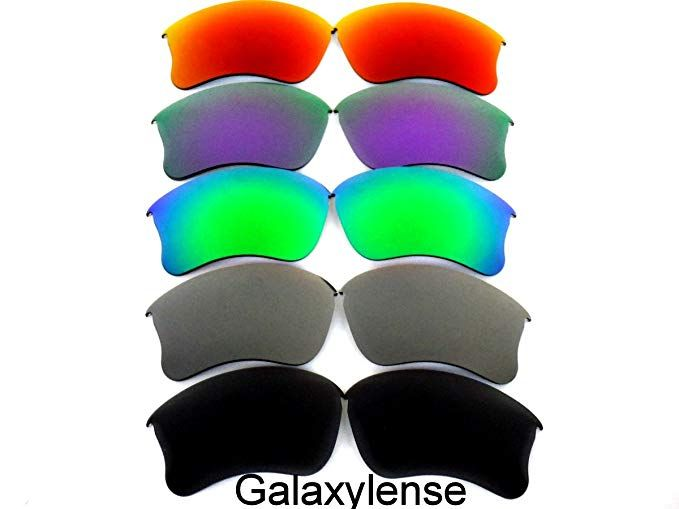 aa35122b3e8 Galaxylense Replacement Lenses for Oakley Flak Jacket XLJ  Black Gray Green Purple Red Color Polarized 5 Pairs ...