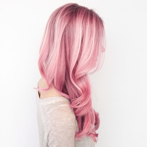 Hairstyle Straight Bangs Curly Long Hair Ver D Pink Jpg Pink Hair Anime Chibi Hair Curly Girl Hairstyles