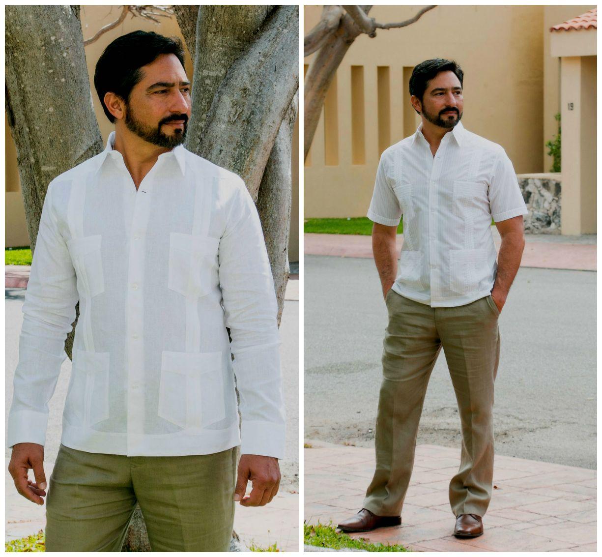 Las Guayaberas son camisas de protocolo clu00e1sicas en el tropical de manga larga o manga corta ...