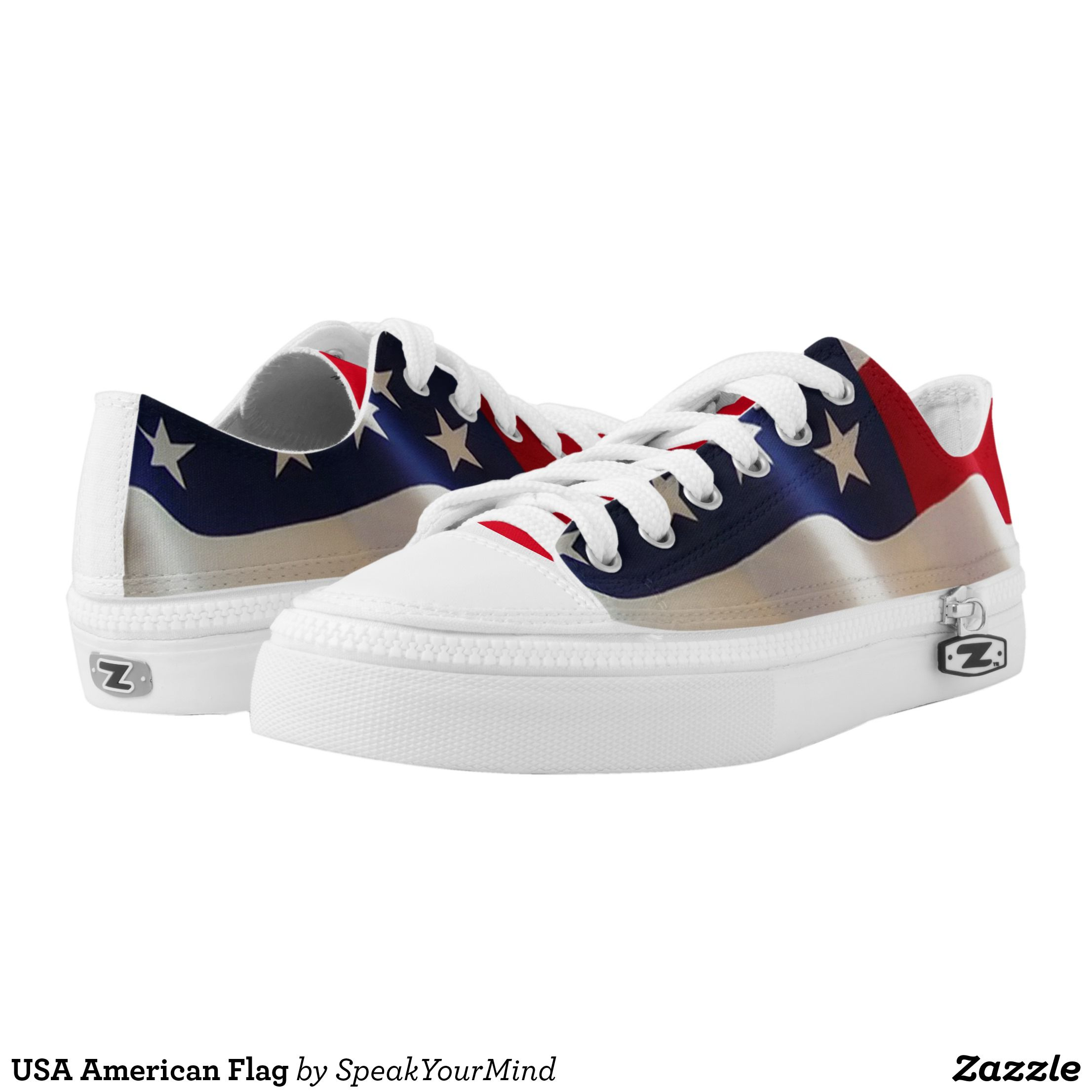 Usa American Flag Low Top Sneakers Zazzle Com Top Sneakers Sneakers Kids Sneakers