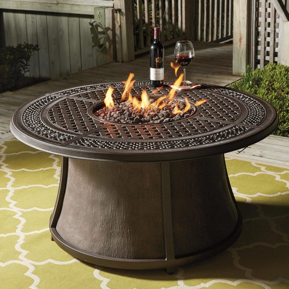 Coffee Table Amazing Round Fire Pit Wood Propane Gas Rectangle Dining Set