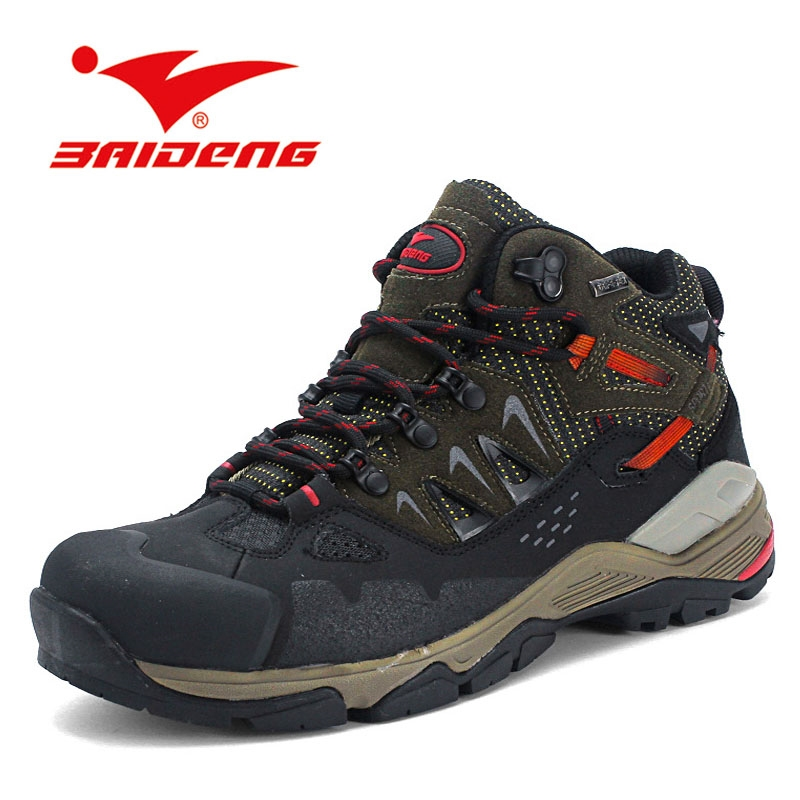 81.09$  Watch here - http://alixwr.worldwells.pw/go.php?t=32645732081 - size 40-45 Breathable men boots Outdoor genuine leather Hiking boots waterproof climbing shoes Leather Boot