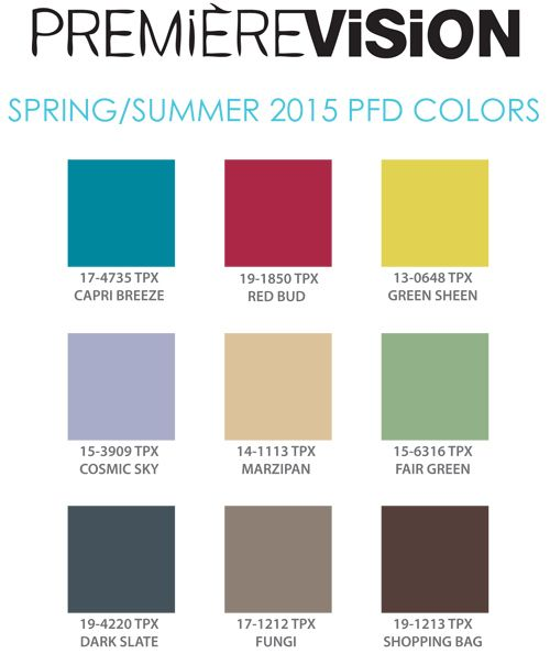 Color Trend Report: PFD Colors for Spring/Summer 2015 ...