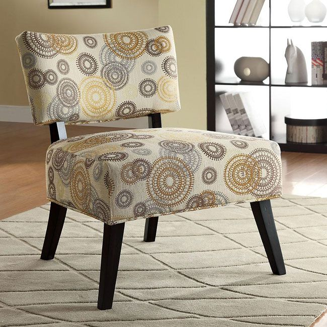 Comfy And Plush This Swirl Pattern Chair Is A Nice Neutral