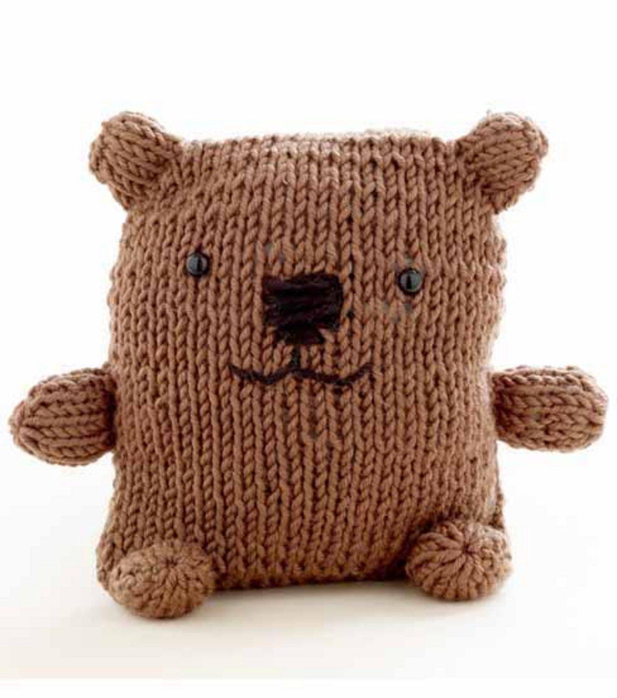 Loom Knitting Bear pattern (breiring knuffelbeer patroon) | napady ...