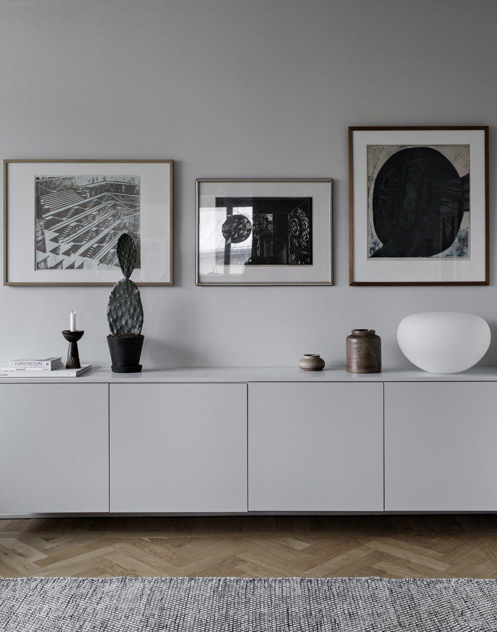 sideboard wandfarbe beige hellgrau altbauwohnung skandinavisch modern minimalistisch schlicht. Black Bedroom Furniture Sets. Home Design Ideas
