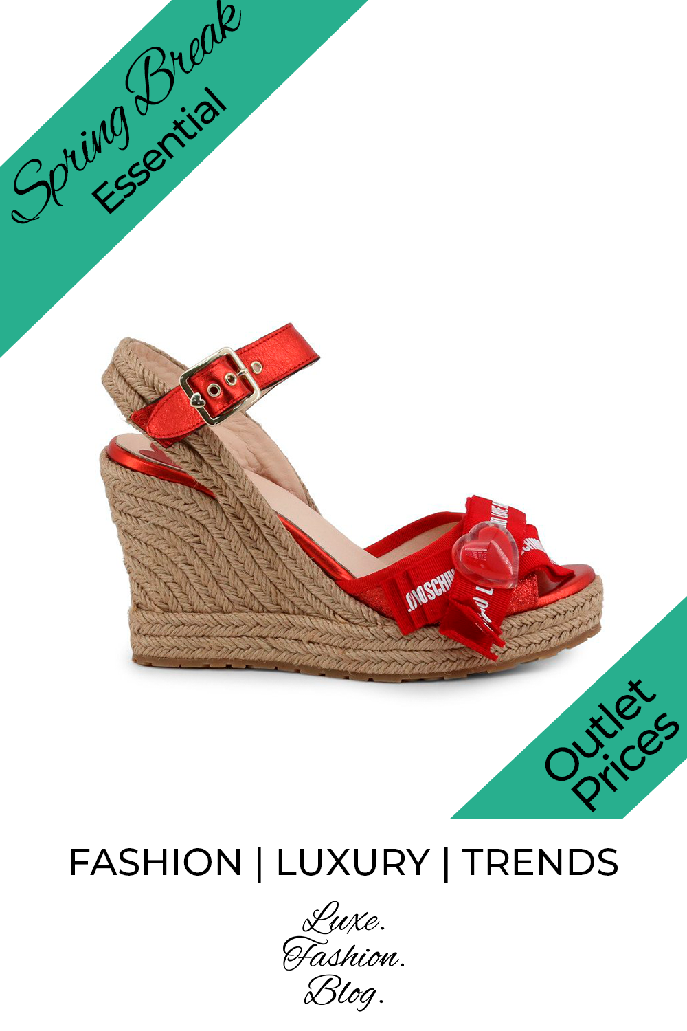20+ Spring Break Accessories You Need | Spring Break Shoes | Red Platform | Love Moschino Red Shoes