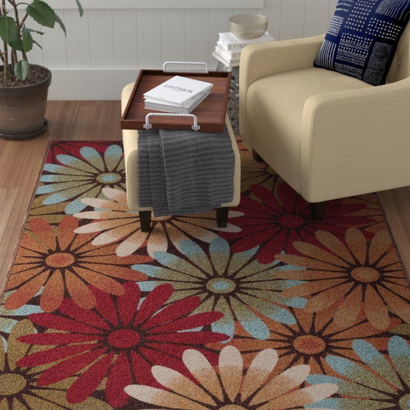 Hosking Floral Red Brown Area Rug Brown Area Rugs Area Rugs