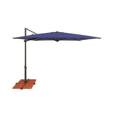 SimplyShade 8.6' Skye Square Cantilever Umbrella Fabric: Solefin / Sky Blue