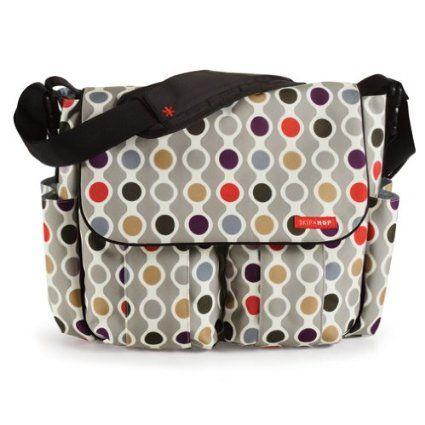 Skip Hop Dash Messenger Diaper Bag Onyx Tile Baby