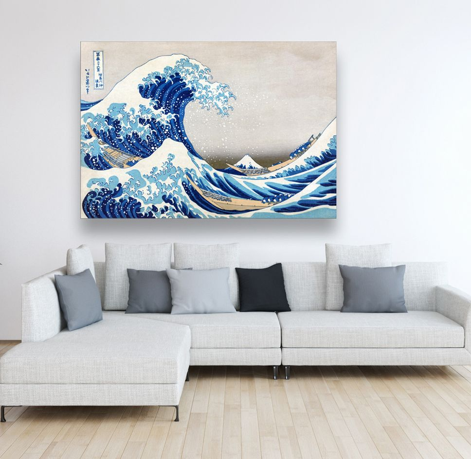 kunst grosse welle leinwand blau weiss druck auf wandbild abstrakt leinwandbilder abstrakte malerei für anfänger