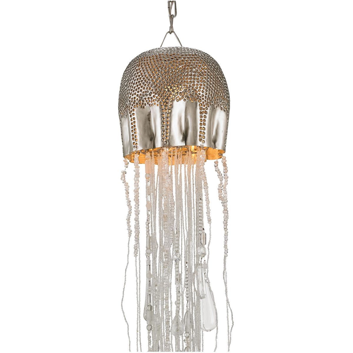 Nickle and brass jellyfish chandelier hand crafted 50 each nickle and brass jellyfish chandelier hand crafted arubaitofo Gallery