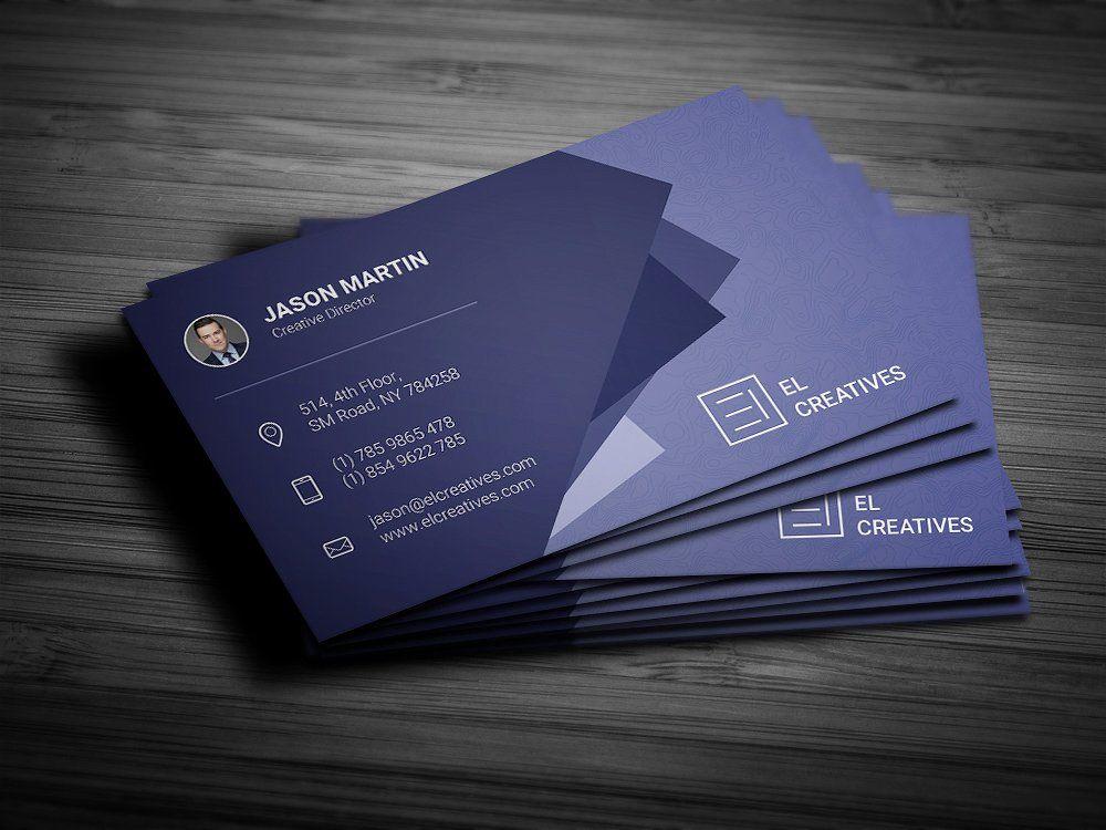 Creative Blue Business Card Business Card Design Business Cards