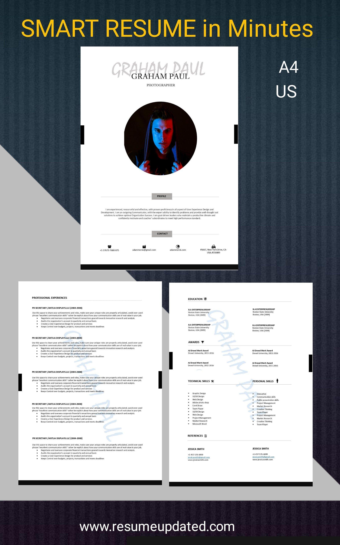 Cv Template Ats Resume Professional Resume Resume Template Etsy In 2021 Cv Words Resume Template Cv Template