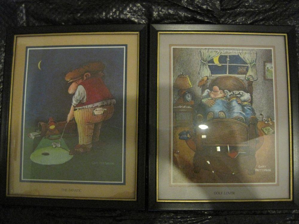 Set 2 Golf, Golfer, Golfing Prints/Pictures Gary