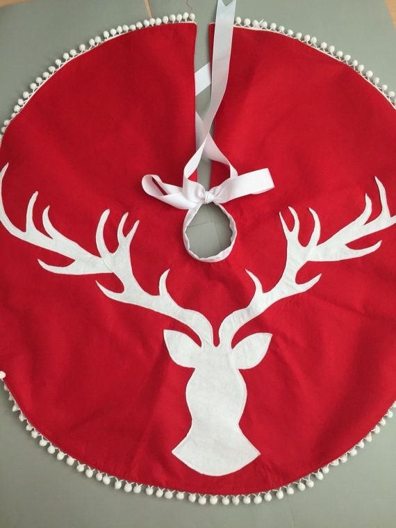 Stag head Christmas Tree skirt \u2026 christmas Pinte\u2026