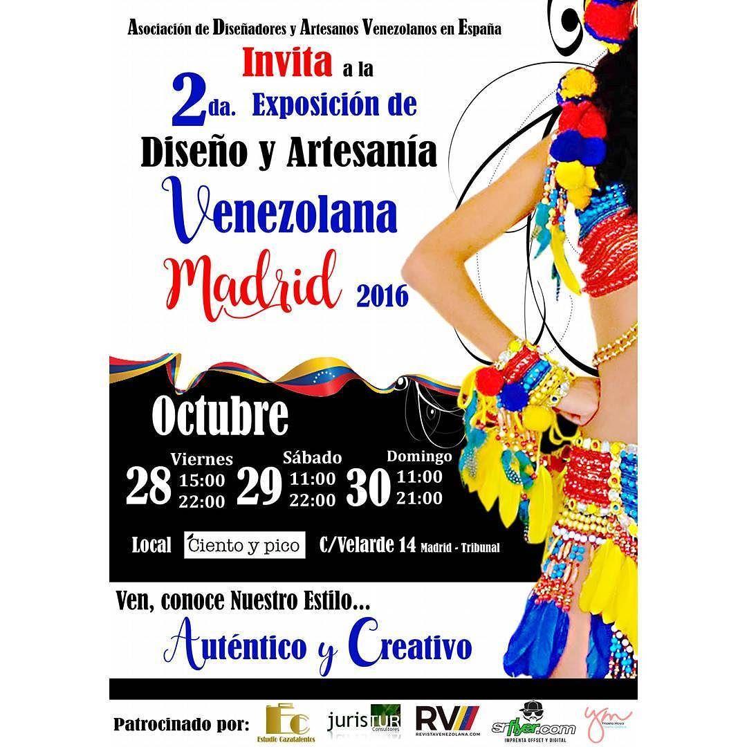 Más de 20 marcas de venezolanos se unen en una exposición muy especial para dar a conocer a todo Madrid sus productos. Calle Velarde14 desde el 28 al 30 de octubre. Más información en @expo_disenovzes#expodisenoartesaniavzla#showroom #showroommadrid #market #marketmadrid #madrid #malasaña #cientoypico #hechoamano#talentovenezolano #diseñovenezolano #disenovenezolanoespana #artesaniavenezolana