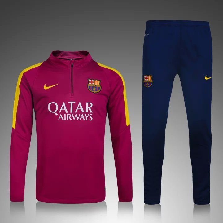 Barcelona 2015/16 Red Men Tracksuit Slim Fit