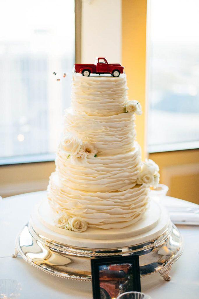 Round White Wedding Cake by Sprinkles Custom Cakes for Wedding at ...