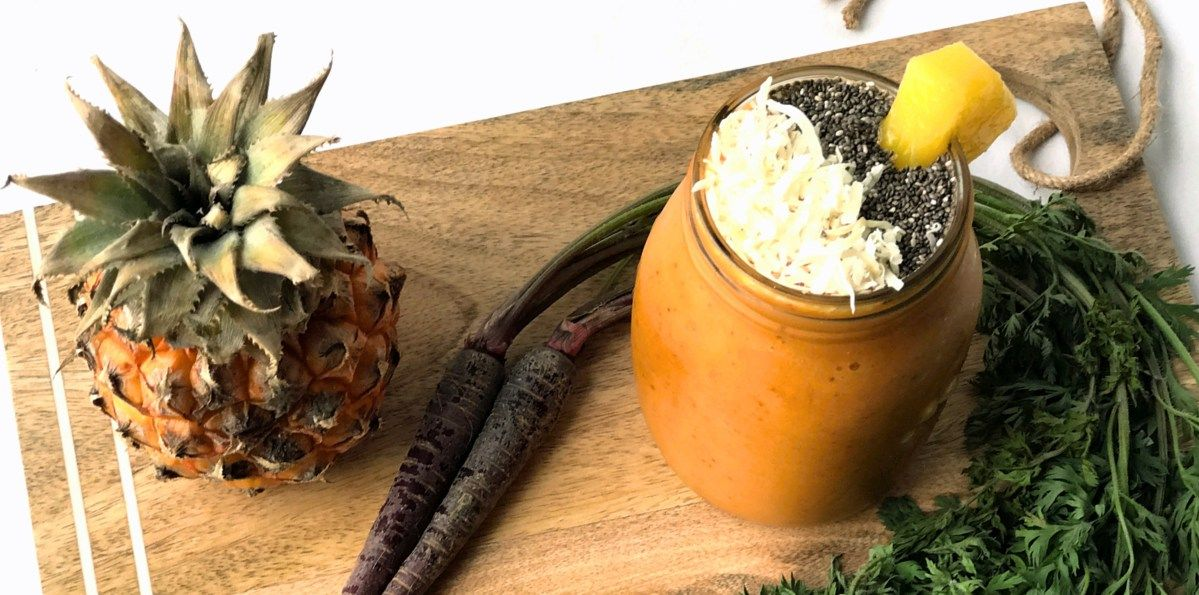 PlantBased Pineapple Turmeric Smoothie Recipe