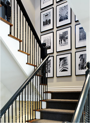 Pictures in the staircase