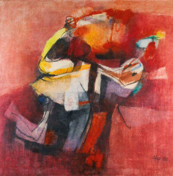 Afro Basaldella / Ragazzo con tacchino,1955