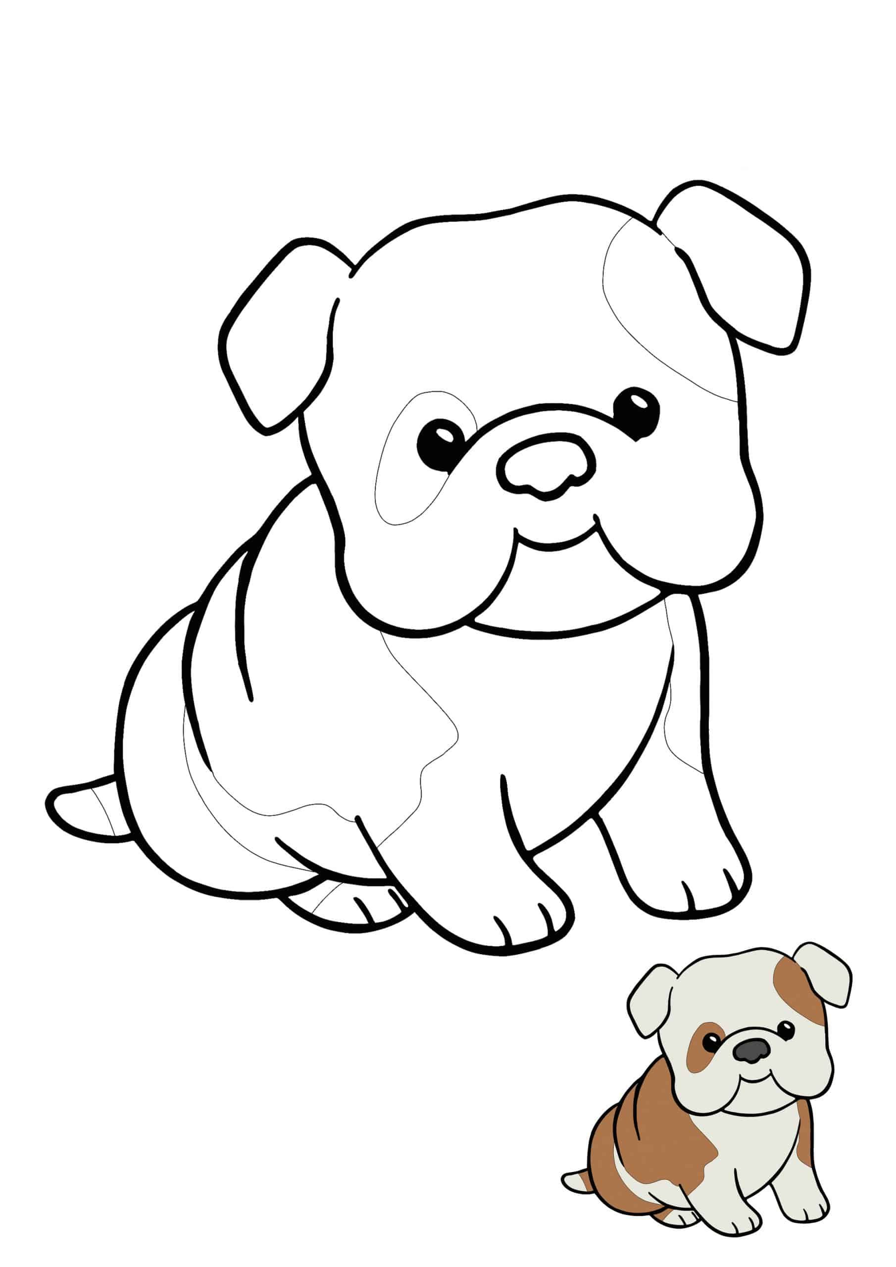 Kawaii Puppy Coloring Picture Dog Coloring Page Coloring Pages Kawaii Animals [ 2560 x 1810 Pixel ]