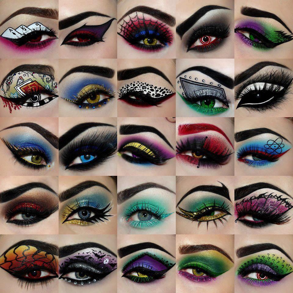 Halloween Inspired Eye Makeup.