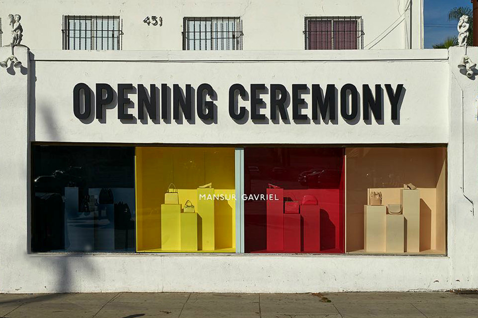 Mansur Gavriel Launches Store Within Opening Ceremony Los Angeles Hypebae Opening Ceremony Pop Up Store Mansur Gavriel