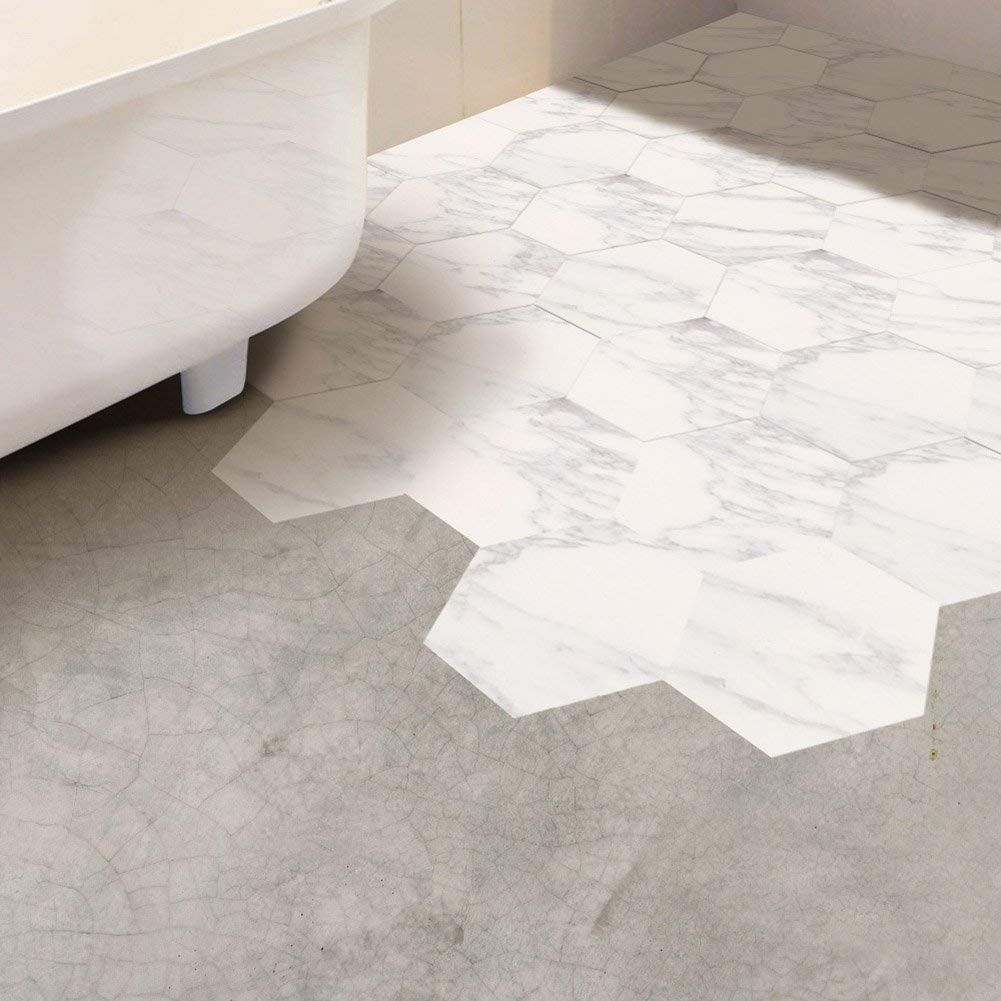 Buy Fancyku Pvc 3d Floor Wall Sticker For Bathroom Kitchen Backsplash Tile Pattern 0 Waterproof Bathroom Flooring Wall Stickers Bedroom Bathroom Floor Tiles