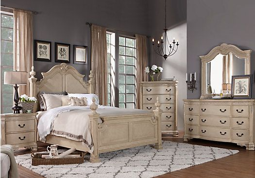 Best Shop For A Cortinella Queen White 5Pc Poster Bedroom At 400 x 300
