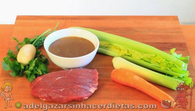 Con video receta saludable de caldo de carne baja en - Comidas sanas y bajas en calorias ...