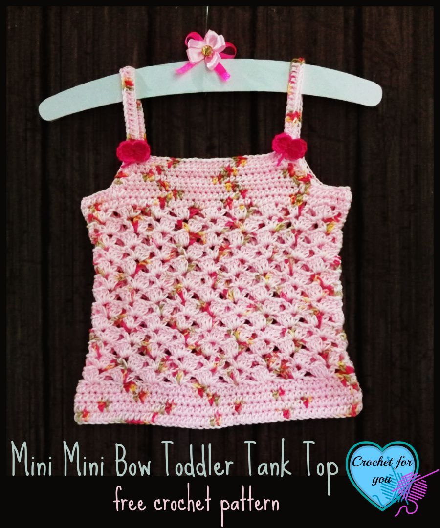 Mini Mini Bow Toddler Tank Top - free crochet pattern | Häkelmuster ...