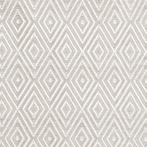 Diamond Platinum and White Indoor/Outdoor Rug