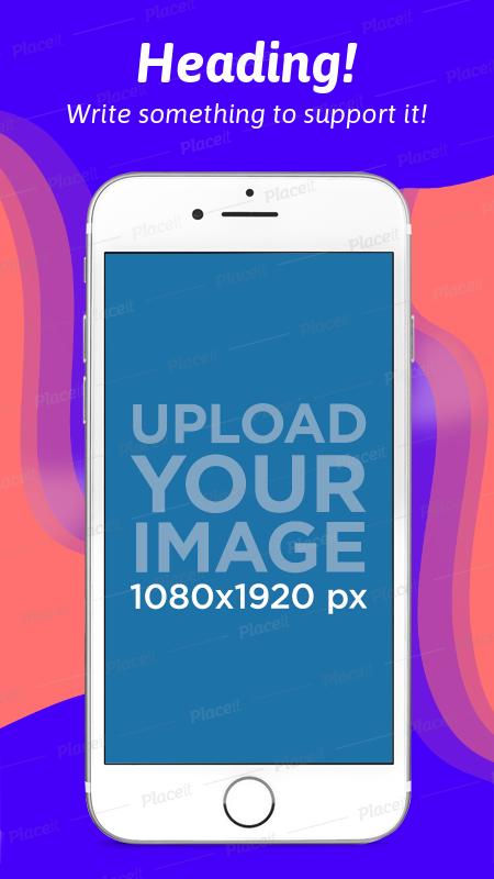 App Store Screenshot Builder of an iPhone 7 On Portrait