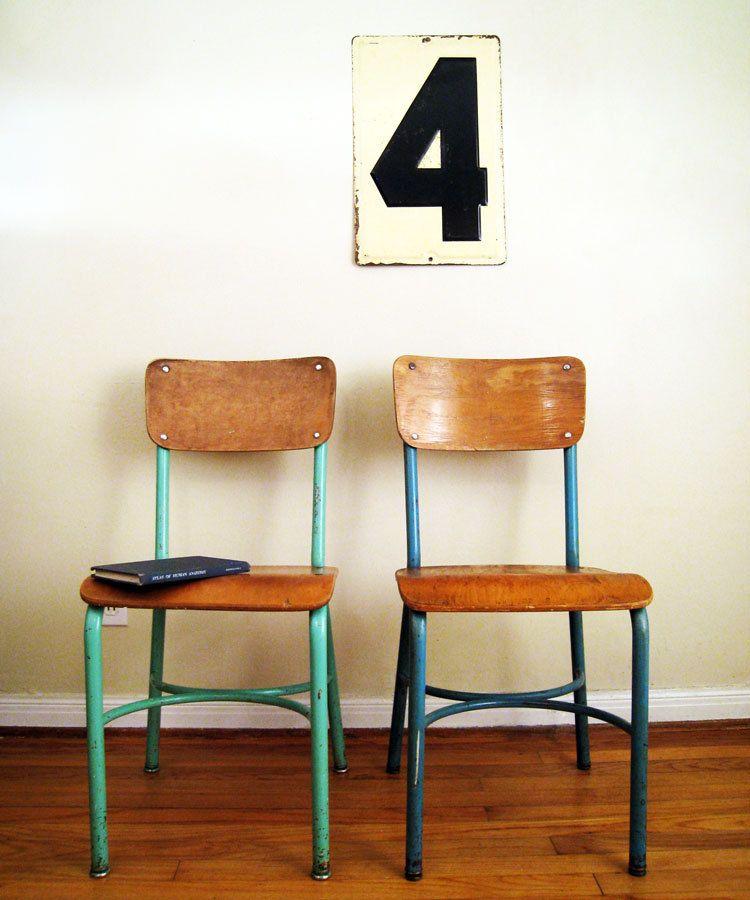 School House Chair By Twentytimesi On Etsy