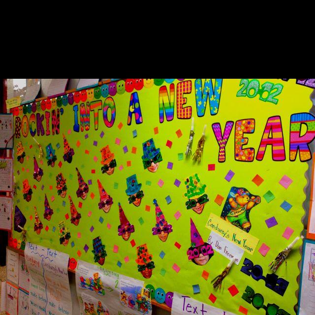 New Year Bulletin Board idea - Rockin' into a new year ...