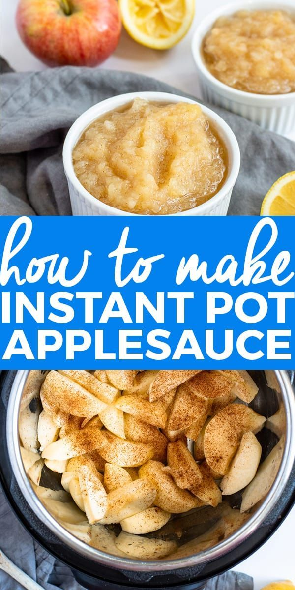 How to Make Instant Pot Applesauce (No Sugar, Gluten Free) Naturally gluten free and no added sugar, this Instant Pot Applesauce is the quickest and easiest way to make applesauce. || The Butter Half