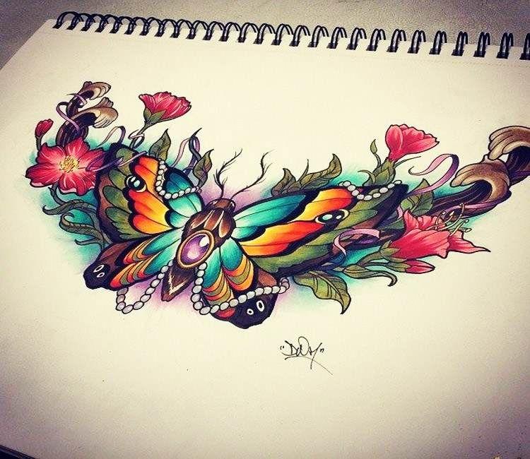 Color Drawing Art By Adrian Ciercoles Post 19226 Chest Piece Tattoos Bug Tattoo Jewel Tattoo